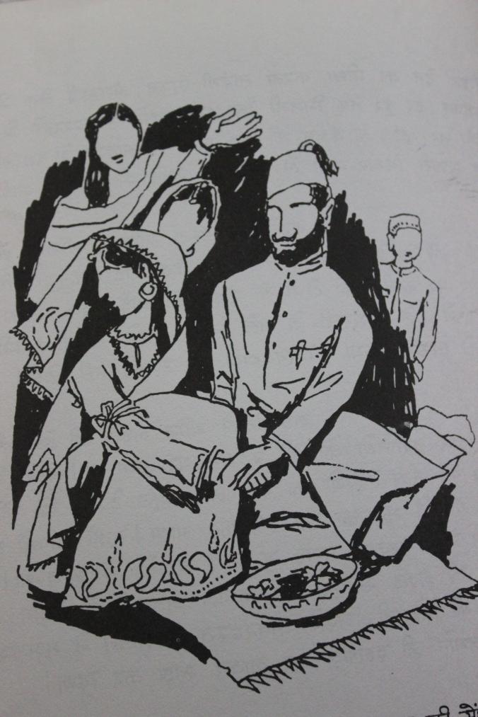 Hussain's parents in sketch