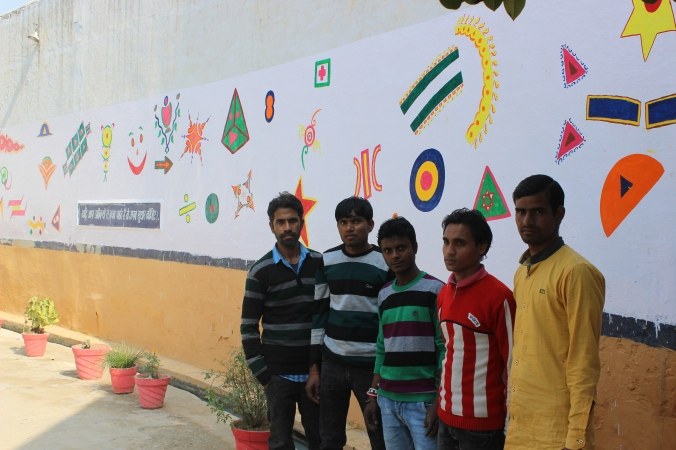 All the painters of the jail. from left- Vivek, krishna, Ajay and Amit