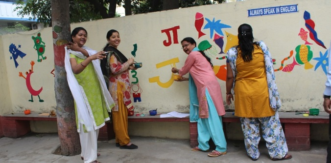 They painted hindi alphabets as well.