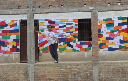 Meenakshi with building blocks