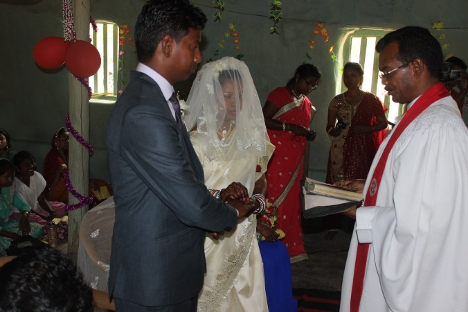 The marriage ceremony. simple and beautiful