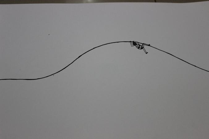 History-Geography II : Studio Work, 16x11 inches, acrylic on paper, 2014