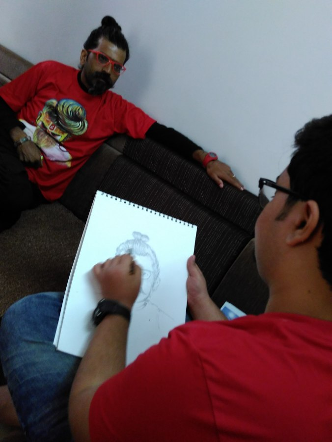 Meet drew a sketch of JEY.